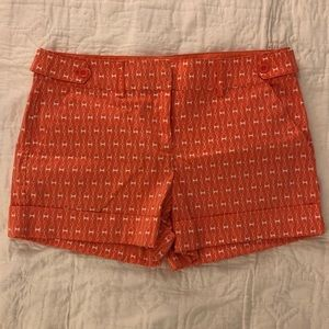 Pink and white cuff leg NY&Co summer shorts sz 10